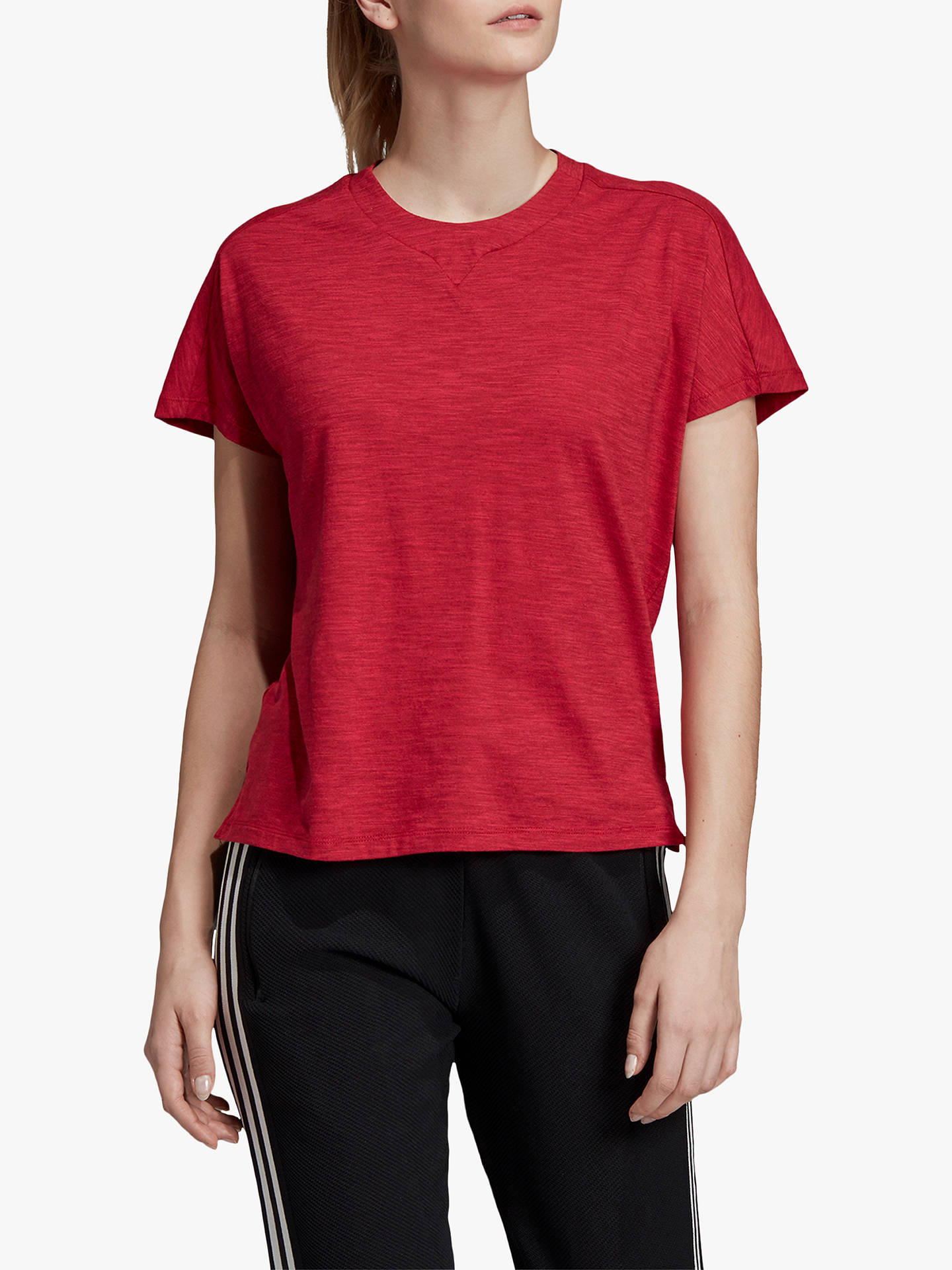 9f3772adc Buy adidas ID Winners AtTEETude T-Shirt, Active Maroon, S Online at  johnlewis ...