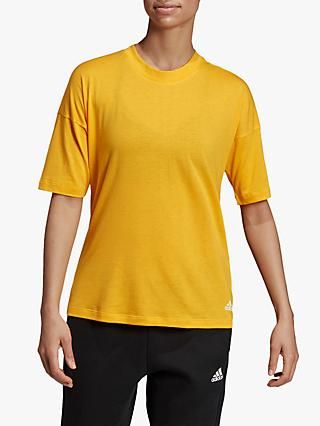 adidas Must Haves 3-Stripes T-Shirt, Active Gold/White