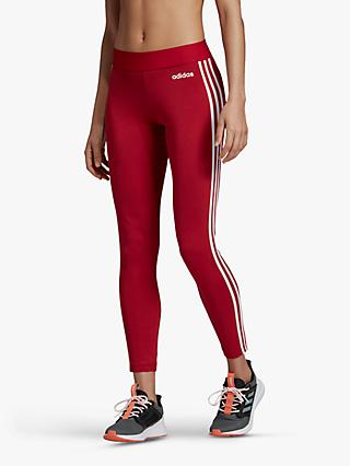 adidas Essential 3-Stripes Training Tights, Active Maroon