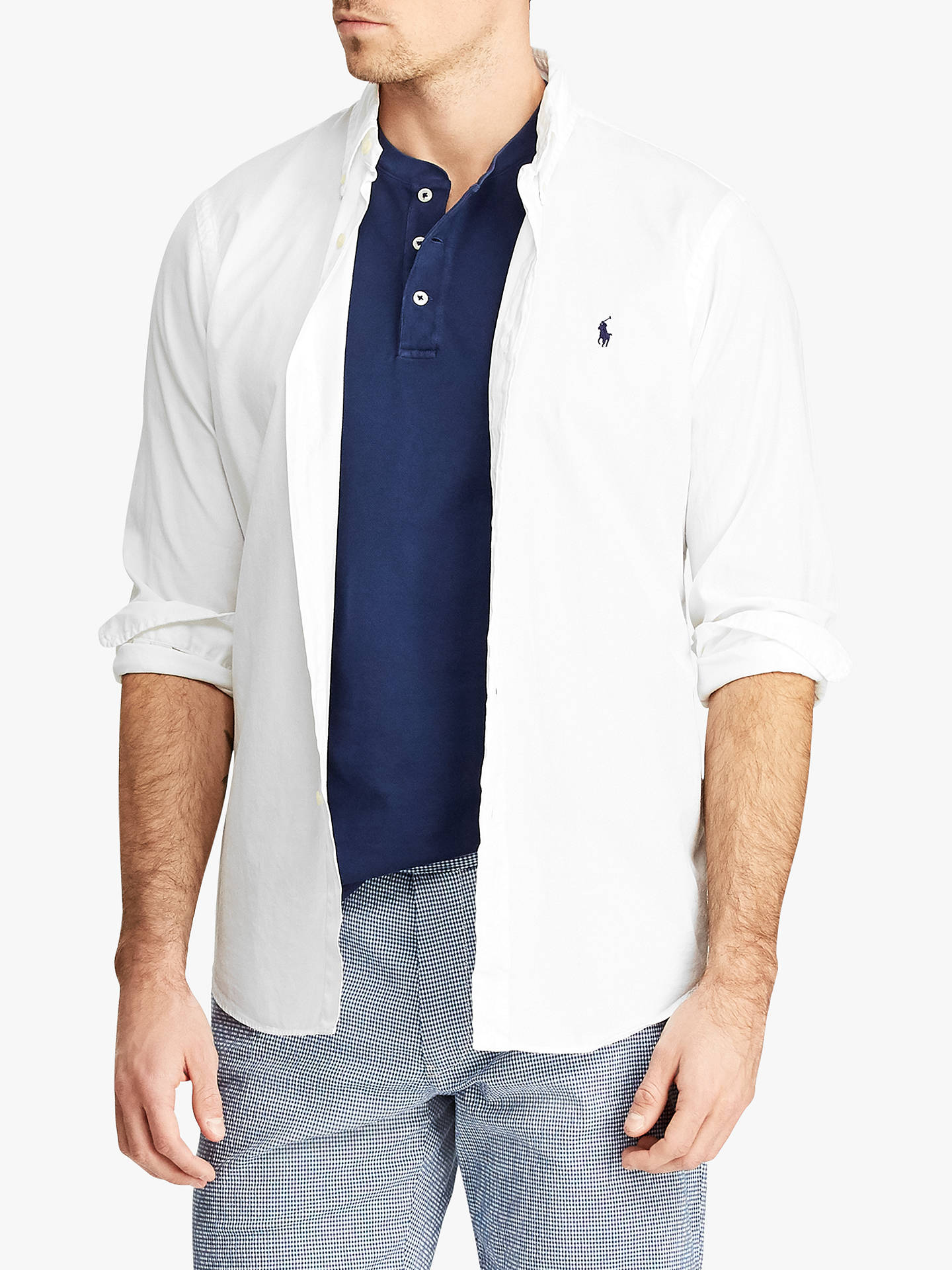 2a7624a7c Buy Polo Ralph Lauren Slim Fit Twill Shirt, White, XL Online at johnlewis.