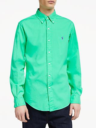 Polo Ralph Lauren Slim Fit Twill Shirt, Sunset Green