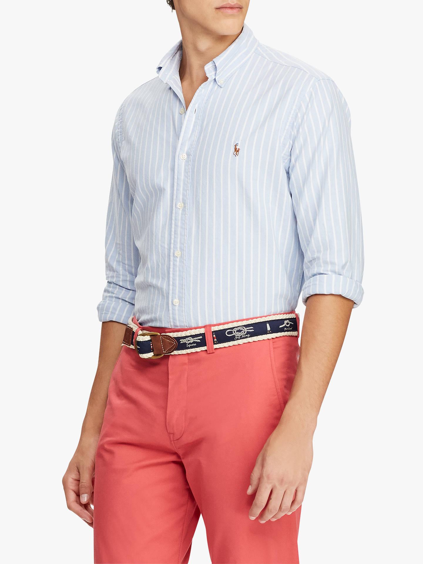 79ac7b471bce Polo Ralph Lauren Striped Oxford Shirt at John Lewis   Partners