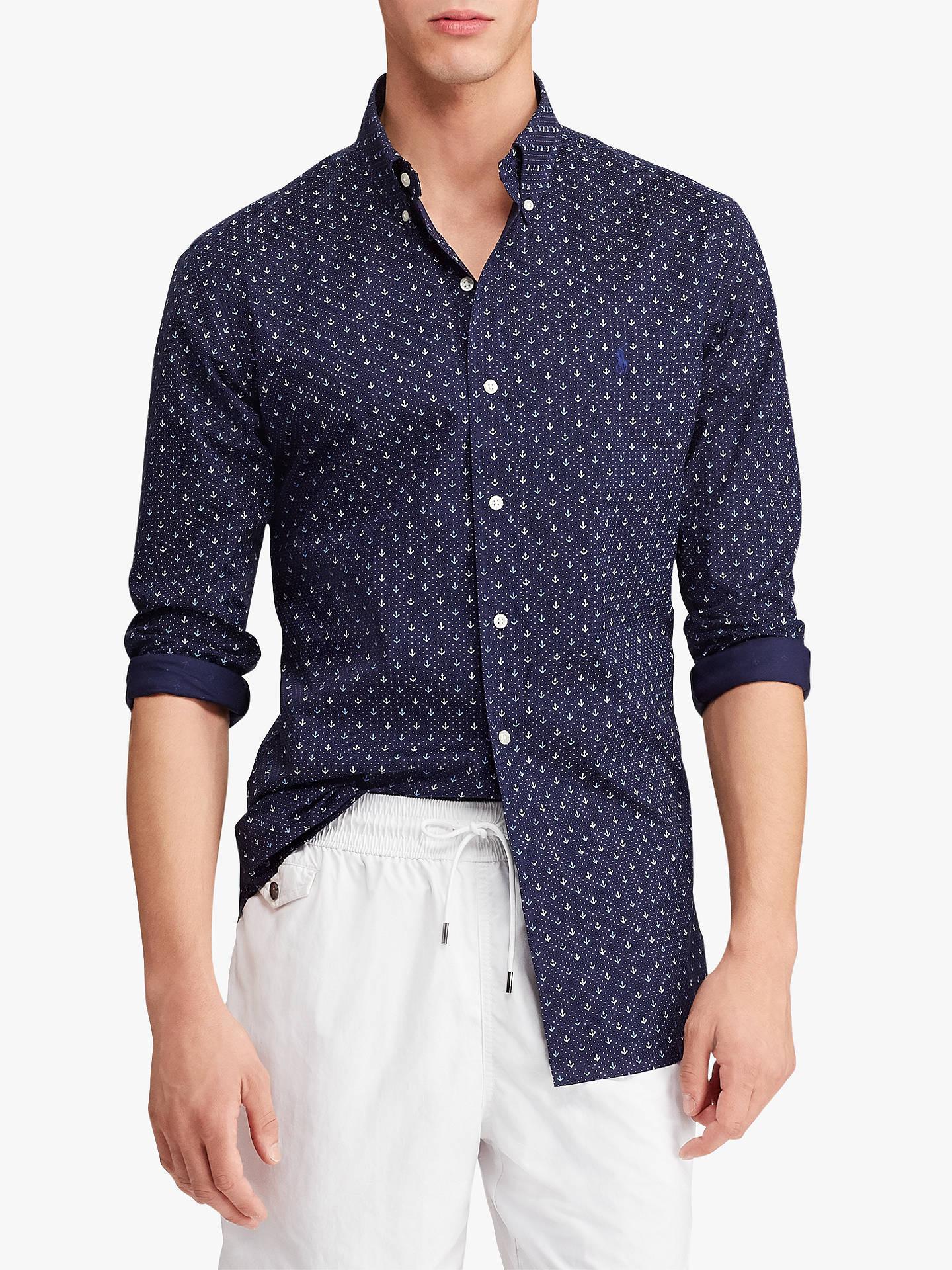 166e6d07da84 Buy Polo Ralph Lauren Slim Fit Mini Anchor Dot Print Shirt
