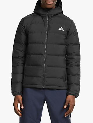 adidas Helionic Hooded Down Men's Insulated Jacket, Black