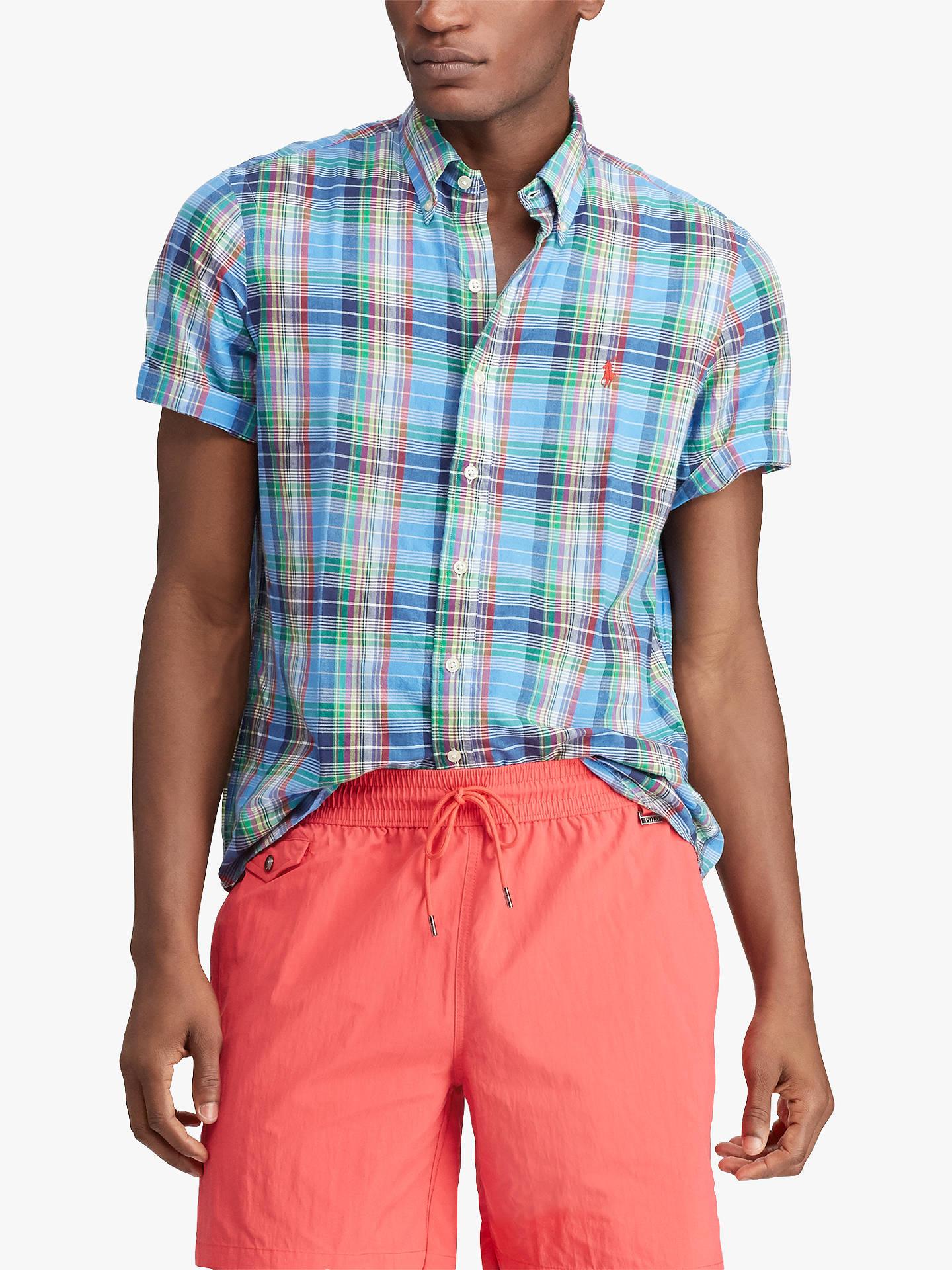 8170de55205a Polo Ralph Lauren Classic Fit Madras Shirt at John Lewis   Partners