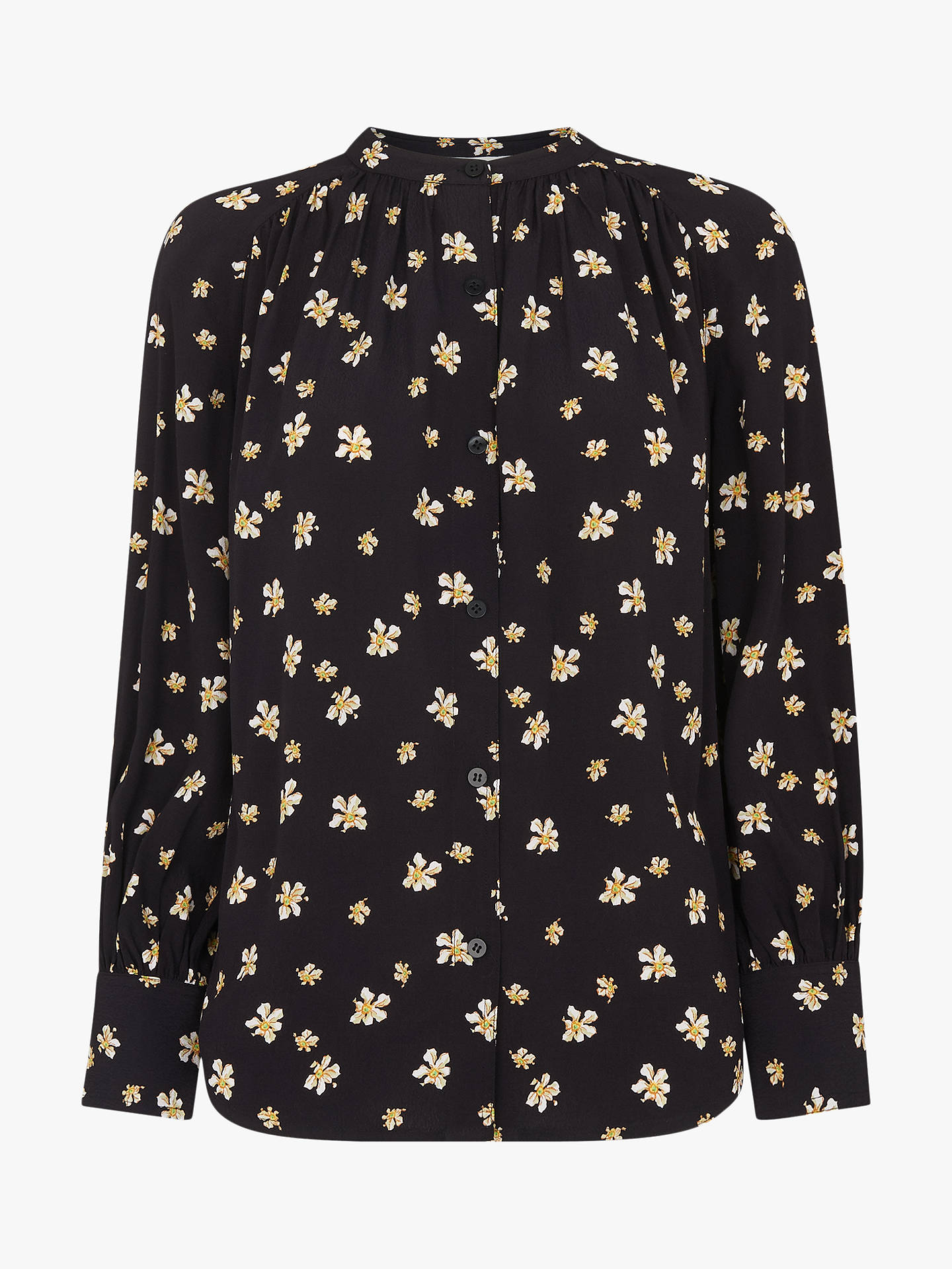 Buy Whistles Edelweiss Print Blouse, Black/Multi, 12 Online at johnlewis.com