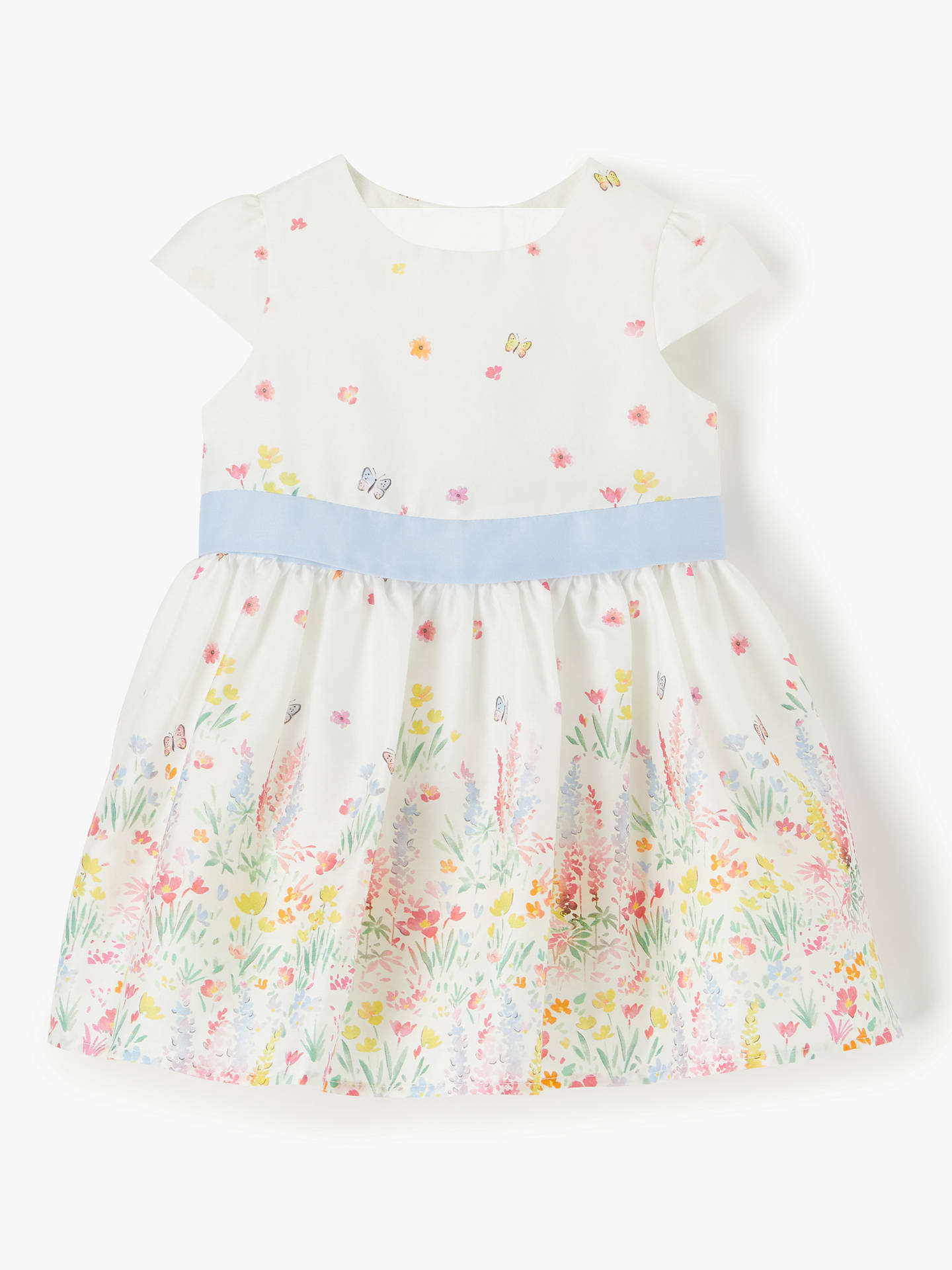 fe694eade Buy John Lewis & Partners Baby Floral Dress, White, 6-9 months Online ...