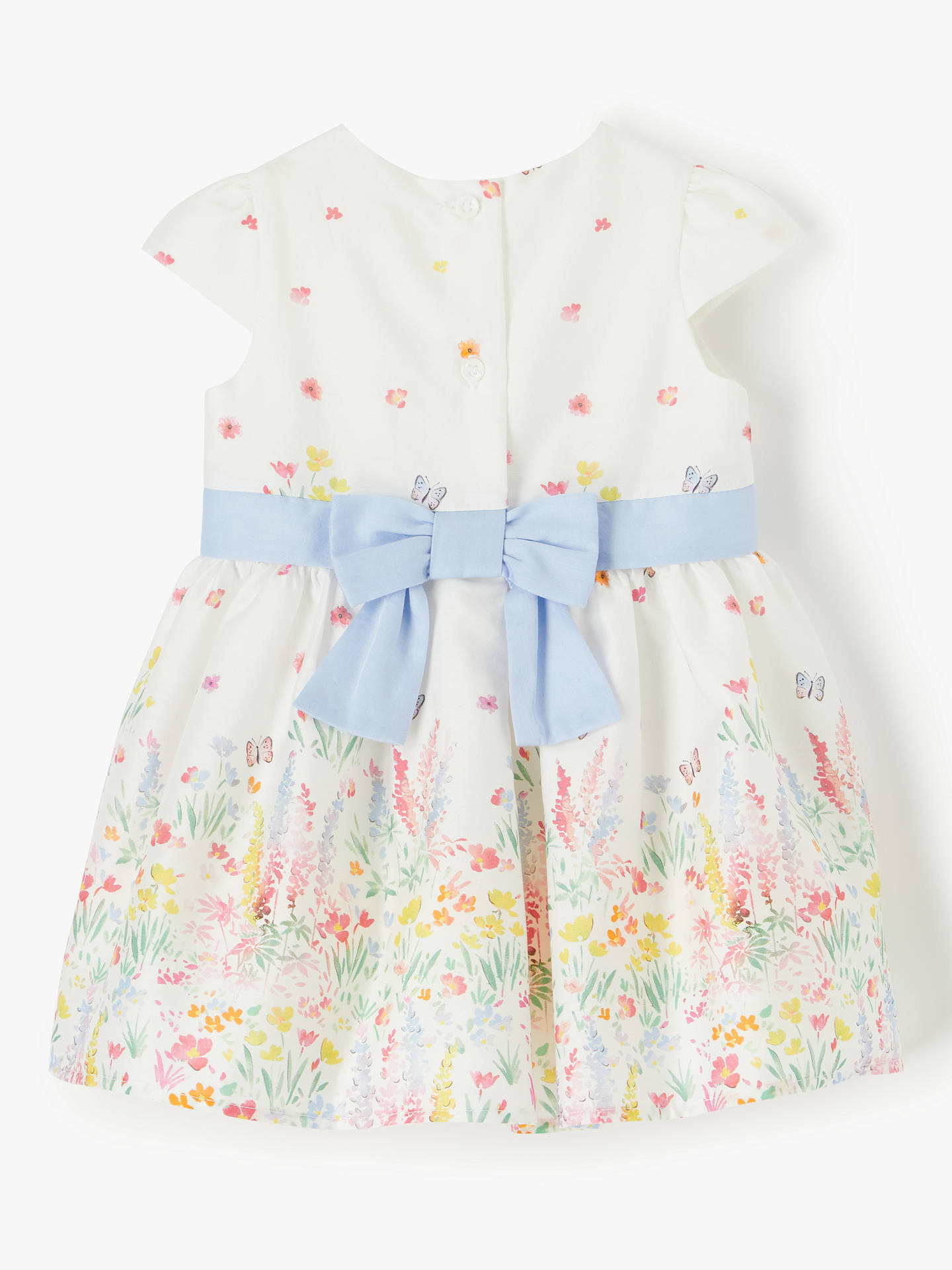 ade843ac3 ... Buy John Lewis & Partners Baby Floral Dress, White, 6-9 months Online  ...