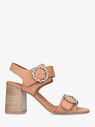 53b702b2063 See By Chloé Flower Buckle Block Heel Sandals