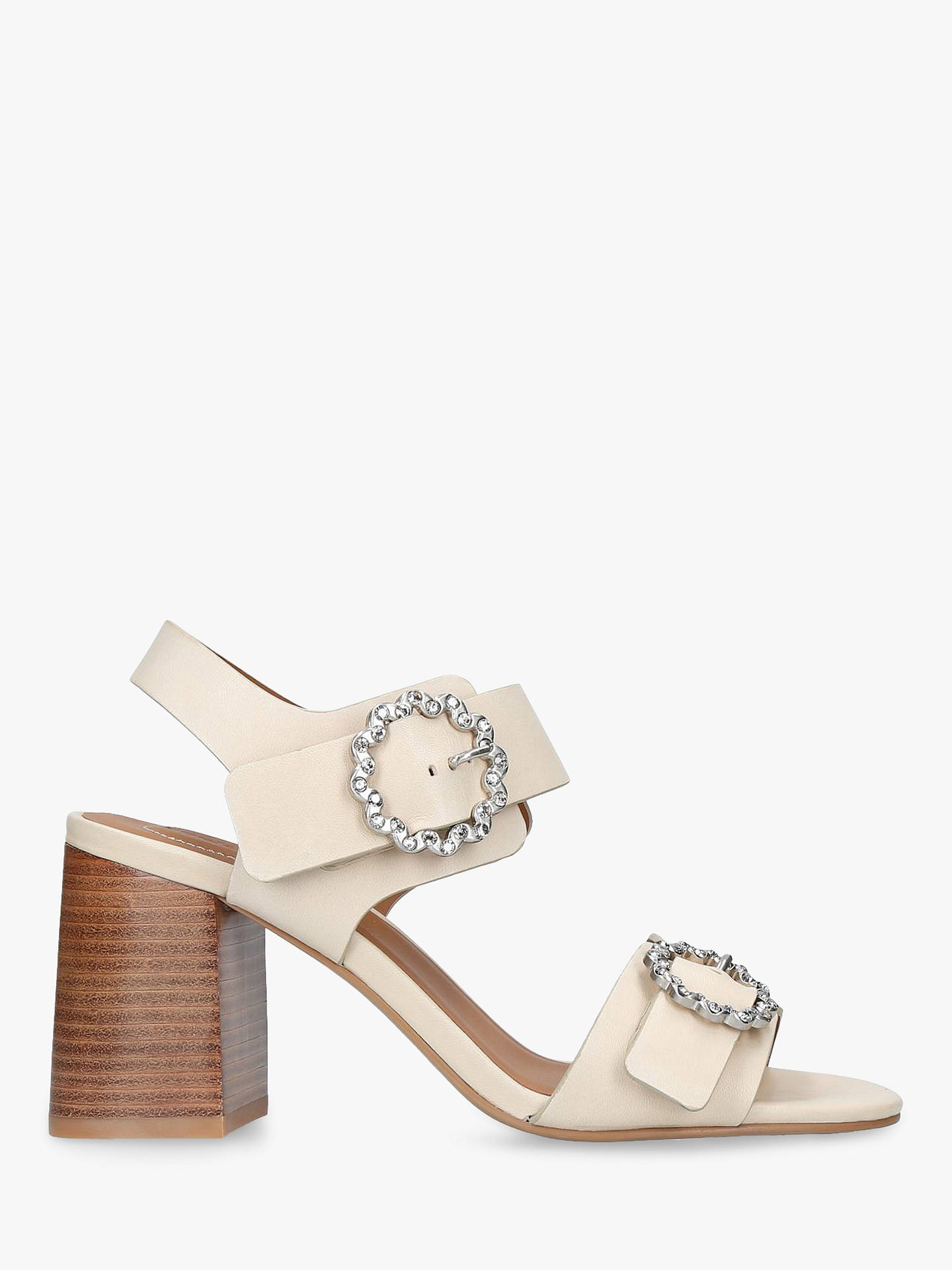 88c1fb2dc64618 Buy See By Chloé Flower Buckle Block Heel Sandals