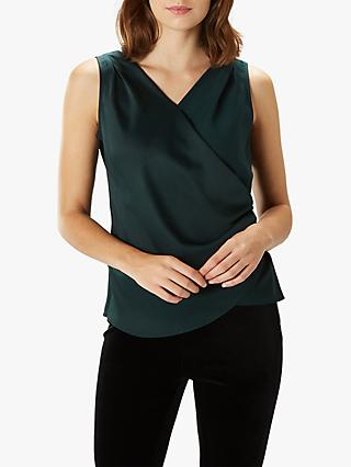 Coast Sephora Ruffle Cami Top, Forest Green