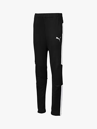 PUMA Boys' Slim Leg Joggers, Black