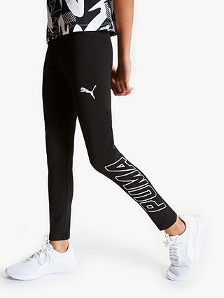 Puma Girls Leggings Black At John Lewis Partners