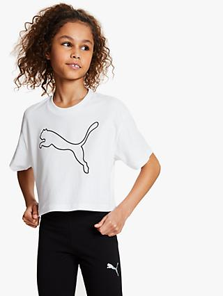 PUMA Boys' Logo T-Shirt, White