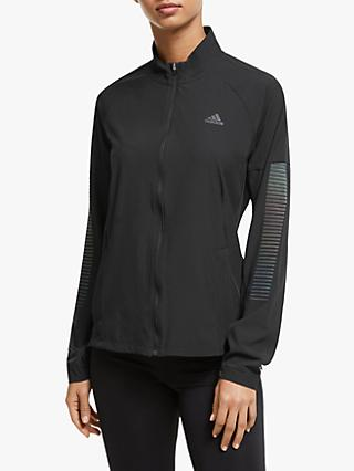 adidas Rise Up N Run Women's Running Jacket, Black