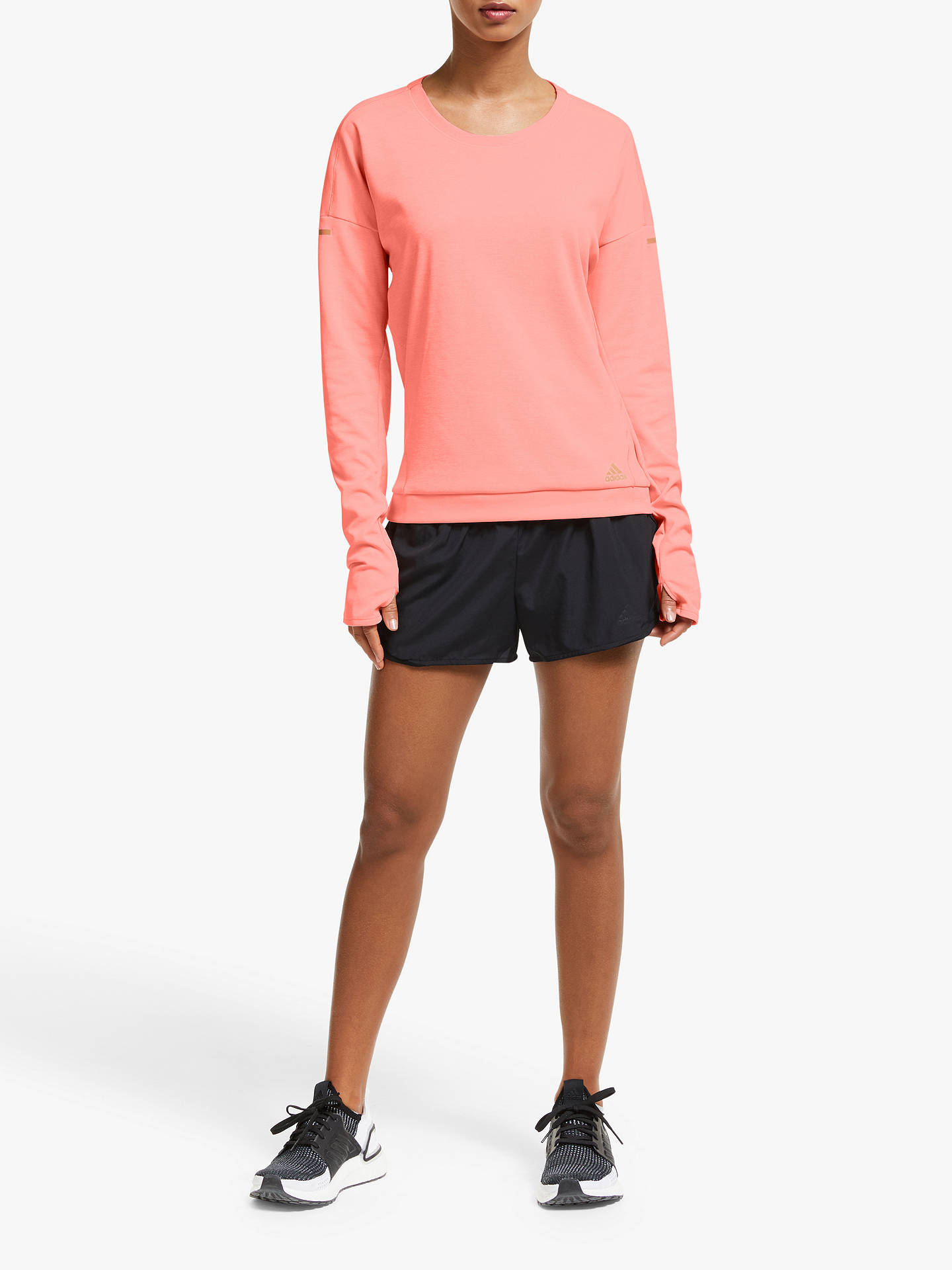 adidas Supernova Run Cru Sweatshirt, Glow PinkHeather