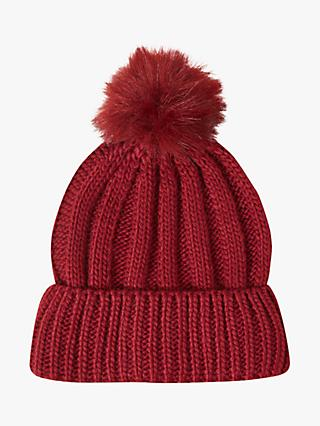 b7a49f11c99 French Connection Faux Fur Pom Beanie Hat