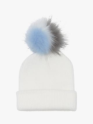 French Connection Contrast Faux Fur Beanie