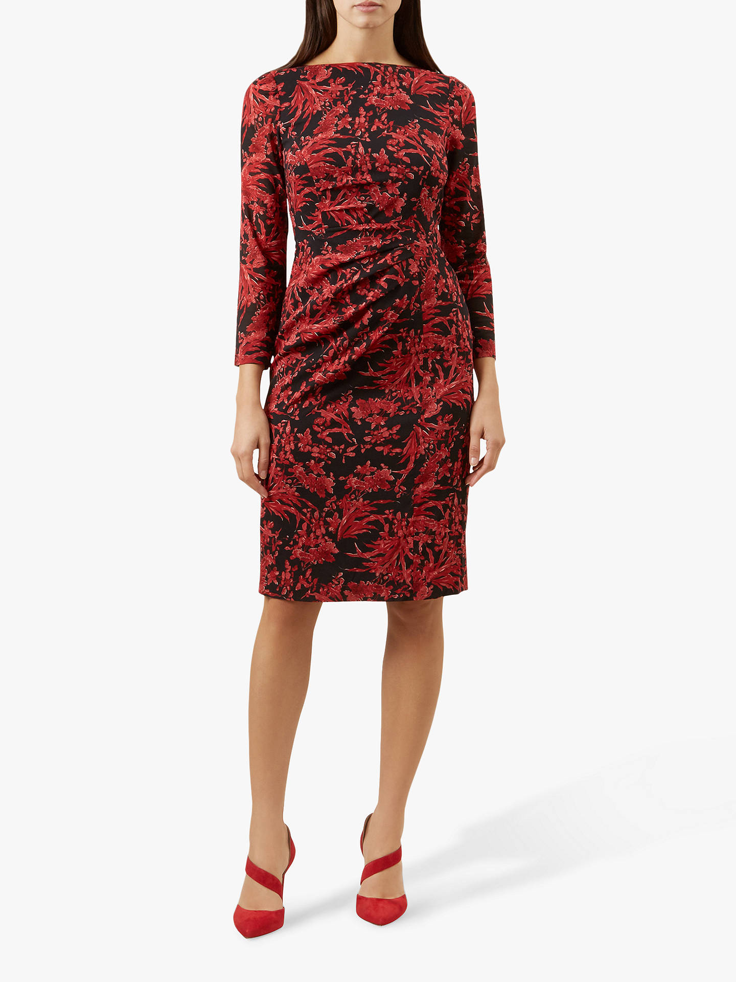 b70c622a Buy Hobbs Sacha Dress, Red/Multi, 12 Online at johnlewis.com ...