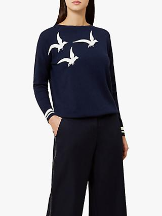Hobbs Gemma Sweater, Navy/Ivory