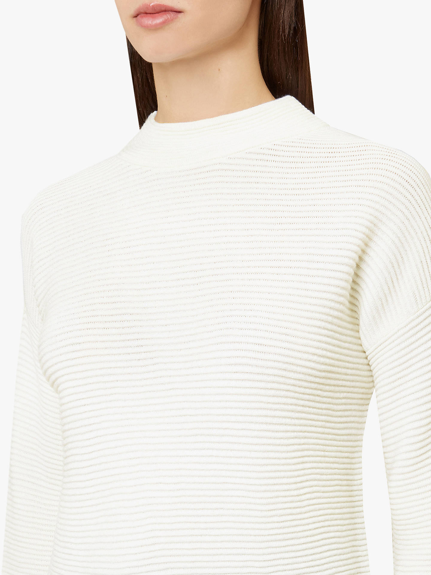 Buy Hobbs Shannon Jumper, Ivory, L Online at johnlewis.com