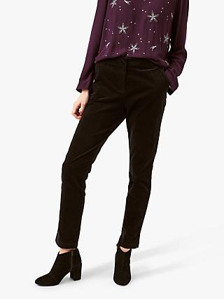 White Stuff Clean Velvet Trouser, Black