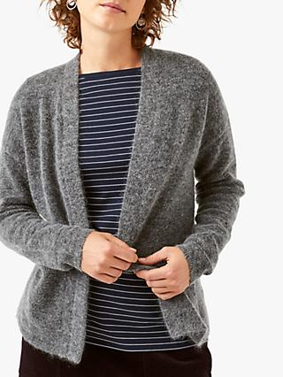 White Stuff Dewberry Fluffy Cardigan, Charcoal