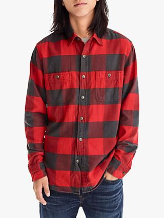 J.Crew Long Sleeve Check Flannel Shirt, Red