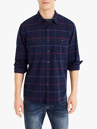256327d54b J.Crew Herringbone Tattersall Flannel Check Shirt
