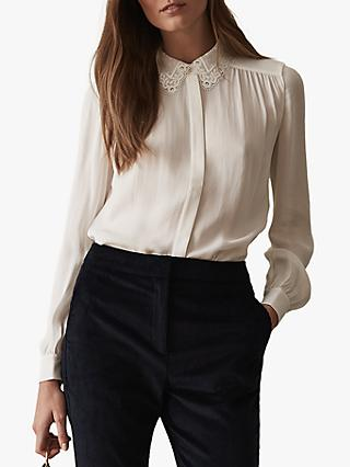 Reiss Kita Lace Collar Shirt