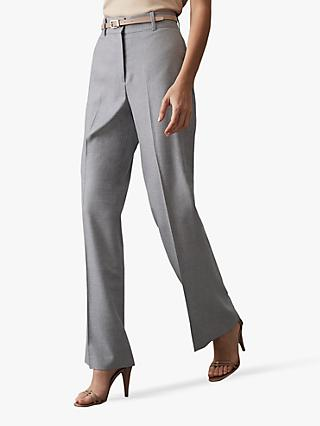 Reiss Essie Wide Leg Tailored Trousers, Light Blue