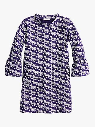 crewcuts by J.Crew Girls' Frankie Bell Sleeve Dress, Deep Baltic