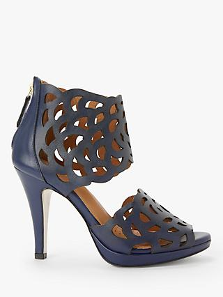 Sargossa Inspire Stiletto Heel Sandals, Navy Leather