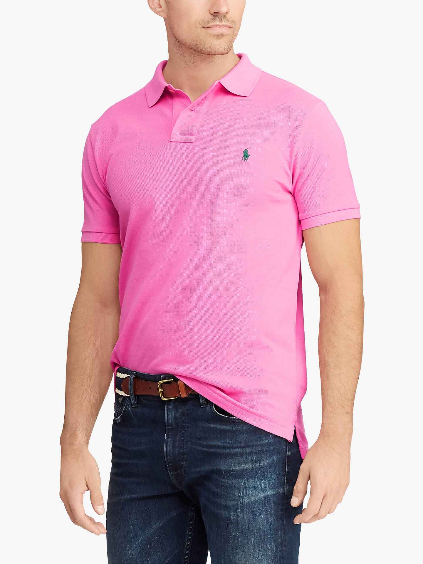 67c75a40 Buy Polo Ralph Lauren Polo Shirt, Maui Pink, S Online at johnlewis.com