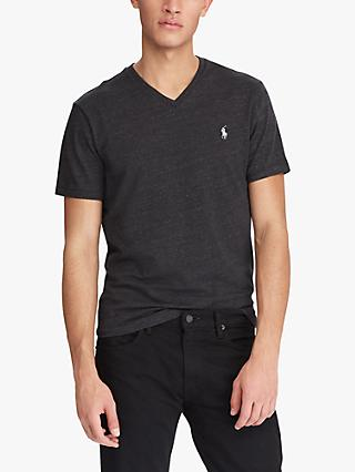Polo Ralph Lauren V-Neck T-Shirt, Black Marl Heather