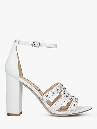 Sam Edelman Yasha Leather Studded Heeled Sandals