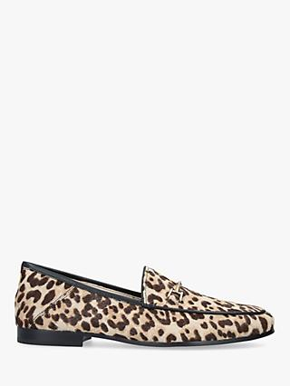 Sam Edelman Loraine Leather Leopard Moccasins, Natural