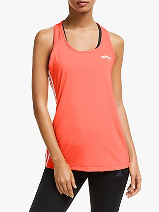 adidas Design 2 Move 3-Stripes Tank Top, Pink