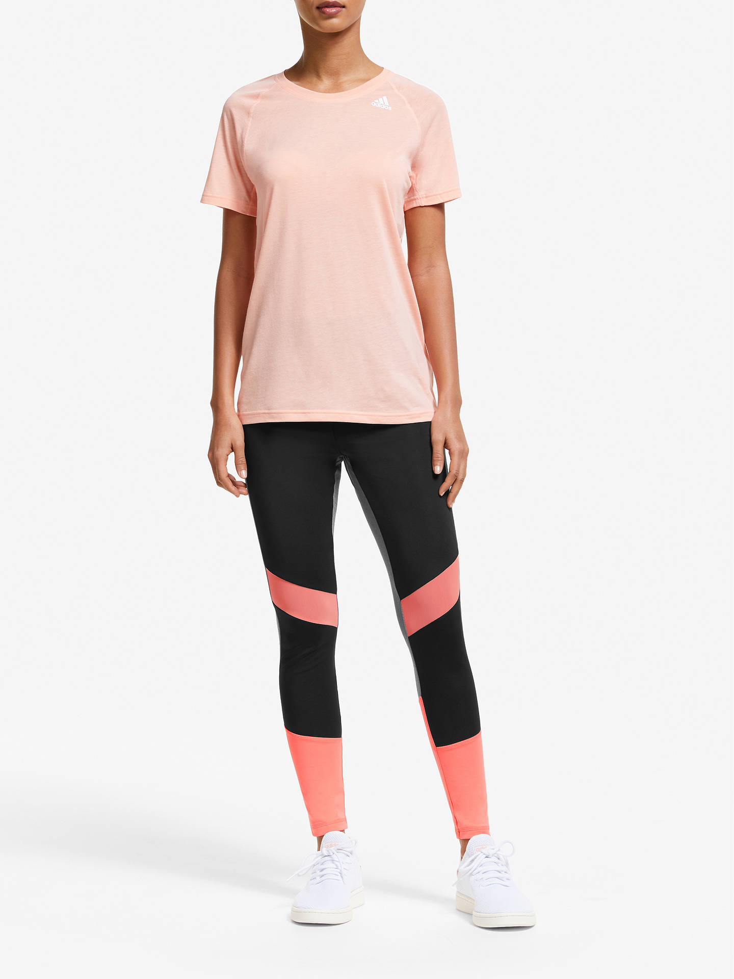 adidas sweat 7/8 sleeve coral