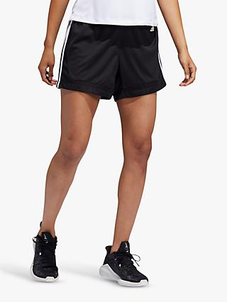 adidas 3-Stripes 5-Inch Mesh Shorts, Black
