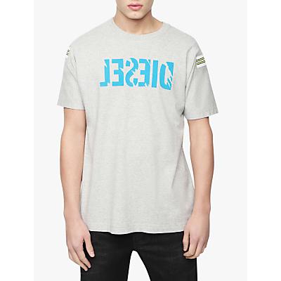 Diesel T-Tryll Logo T-Shirt, Grey