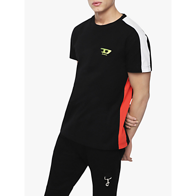 Diesel T-Harus Contrast Insert T-Shirt, Black