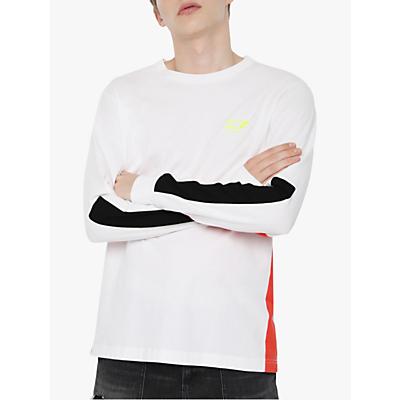 Diesel T-Harus Long Sleeve T-Shirt, White
