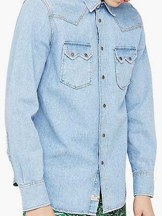 7de63cdc4c3 Diesel Western Denim Long Sleeve Slim Fit Shirt