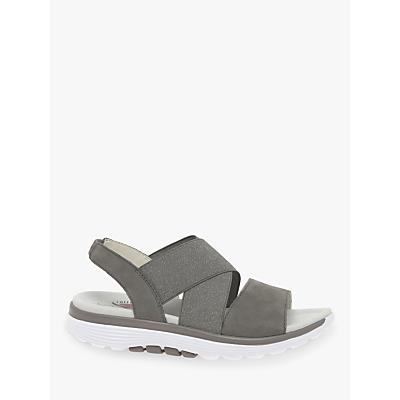 Gabor Sacred Glitter Cross Strap Sandals, Beige
