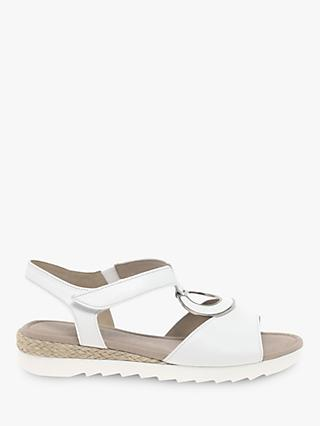 Gabor Ellis Wide Fit Low Wedge Sandals