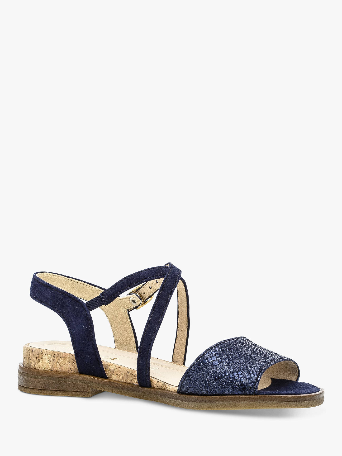 7f5e6aedd51e3 Buy Gabor Impact Two Part Cross Strap Sandals, Navy Suede, 3 Online at  johnlewis ...