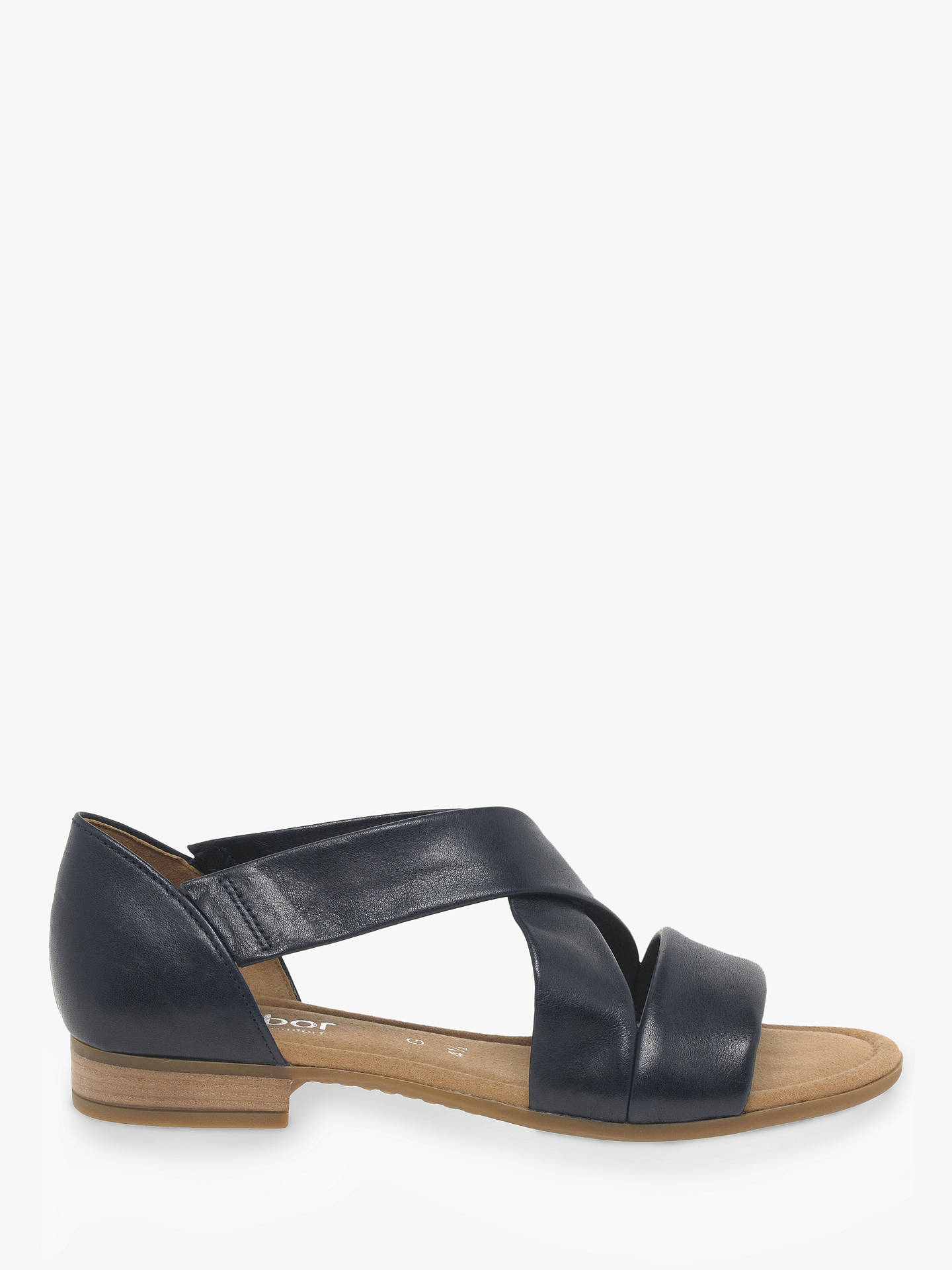 1a50031fd32 Gabor Sweetly Wide Fit Cross Strap Sandals at John Lewis   Partners