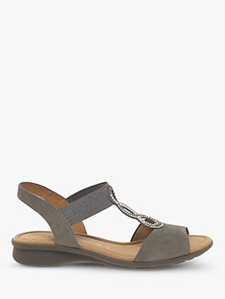 Gabor Merlin Wide Fit T-Bar Sling Back Sandals