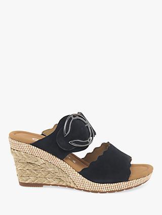 abfbe6ef9403 Gabor Kent Wide Fit Wedge Heel Sandals